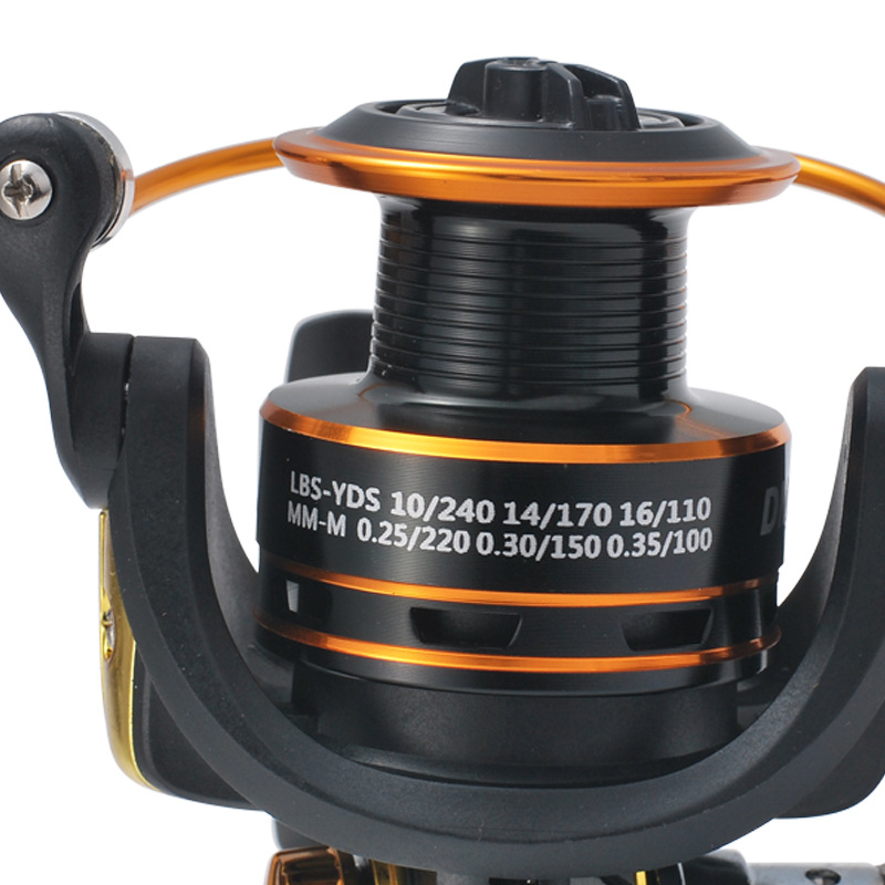 Spinning Reel CNC Rotary Handle Graphite Body Stream Spinning Fishing Reel <font><b>DM1000</b></font>-DM6000 5.2:1/12BB Saltwater Light Line Cup image