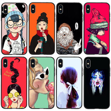 Funny Terror Spider-Man for iPhone 11 Pro Cover Xr Xs Max X 6 6S Plus 5 5S SE TPU For iphone 7 plus phone case Black Silicone spider man into the spider verse for funda iphone xs max case cover for case iphone 6s plus 5 5s se 6 7 8 plus xr x cases cover