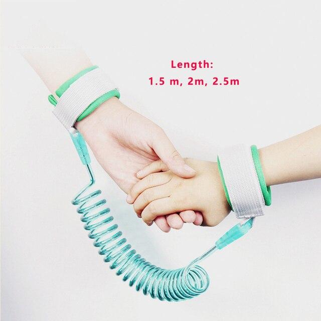 1.5M 2M 2.5M Toddler Kids Baby Safety Walking Harness Anti-lost Strap Wrist Leash Children Hand Belt Rope