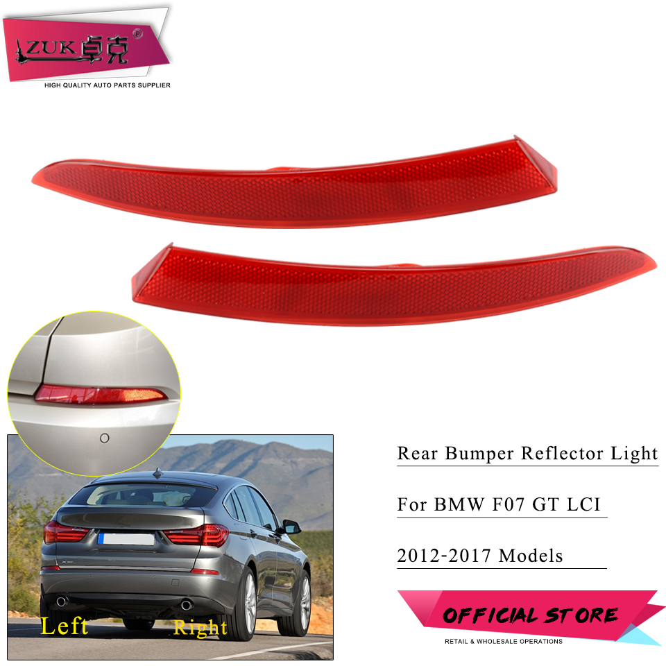ZUK Rear <font><b>Bumper</b></font> Trim Lamp Fog Light Lamp For <font><b>BMW</b></font> 2012-2017 <font><b>F07</b></font> <font><b>GT</b></font> LCI For 520 528 530 535 550 Rear Reflector Tail Garnish Lamp image