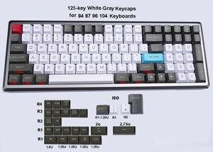 Image 3 - Механическая клавиатура 125 клавиши PBT OEM профиль Dolch Carbon для переключателей Cherry MX 61 63 84 87 96 104 Tada68 FC980M