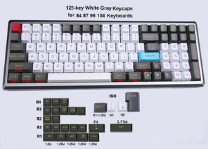 Image 3 - 125 key PBT Keycaps OEM Profile Dolch Carbon for Cherry MX Switches 61 63 84 87 96 104 Tada68 FC980M Mechanical Keyboard