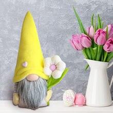 Paskalya günü yüzü olmayan bebek figürleri süslemeleri yatak odası oturma odası masaüstü dekor ayakta mesaj ev partisi dekoru çocuk oyuncakları çiçek