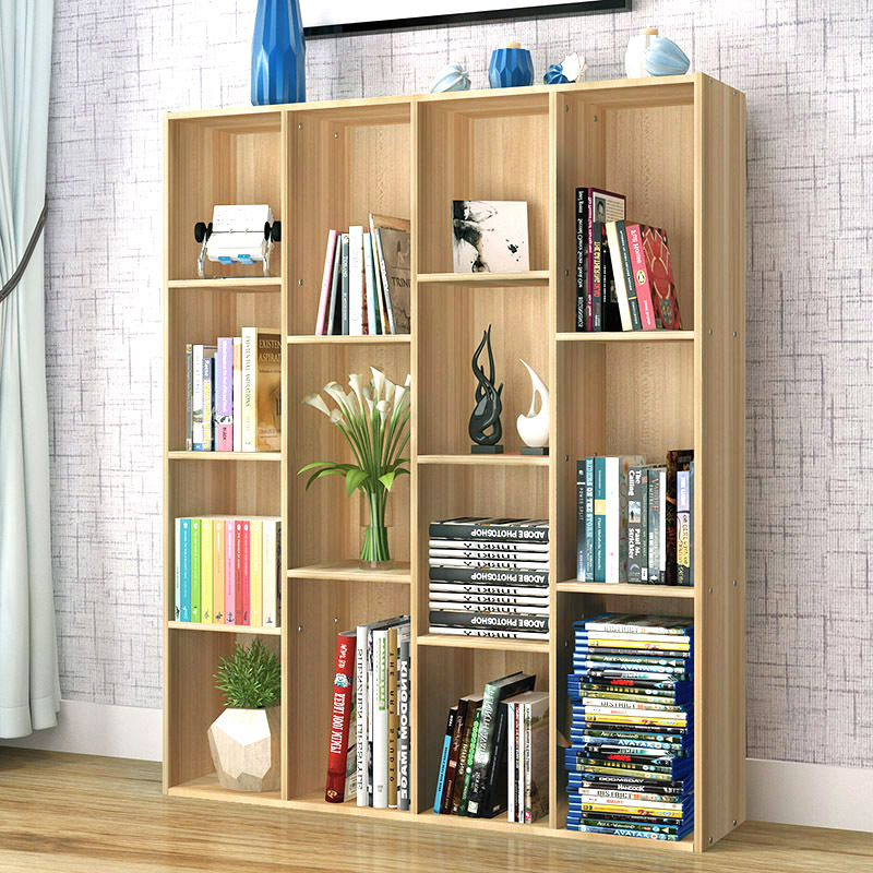 Minimalist Modern Creative Bookshelf Simplicity Combination Floor Bookcase Storage Shelf Office Storage Rack Display Rack Cabine
