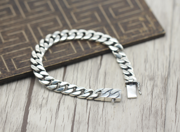 2017 s925 sterling silver new bracelet Simple and generous popular Retro braided bracelet Classic style Send a gift to love - 2