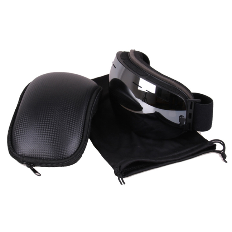 Eyewear Cas Portable PU Leather Spectacle Cases Bag Container Accessories For Skiing Goggles New