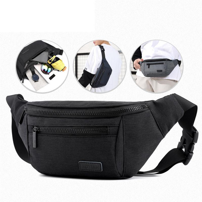 Fashion Casual Men Waist Bag Outdoor Sports Fanny Pack High Quality Waterproof Men Chest Bag Waist Wallet Phone Purse Belt Bag
