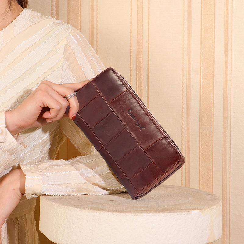 Купить с кэшбэком Cobbler Legend Brand Designer Casual Women Wallet Genuine Leather Long Wallet For Ladies Coin Card Purses For Female Coin Pocket