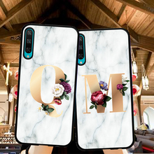 Letter Monogram A B C D white marble Soft TPU Phone Case For Huawei Honor 20 Pro V20 10i  20i 8S 8A 8X 8C 9X Back cover Silicone dynacord d 8a