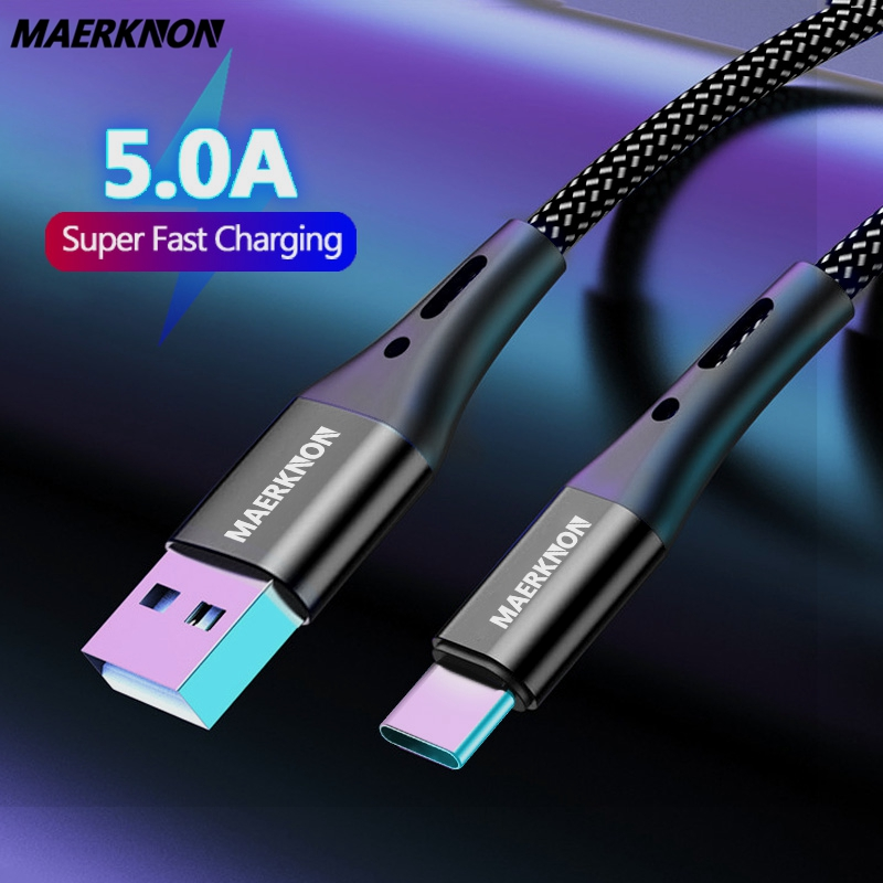 5A Maerknon Type-C-Cable Fast Charging USB cables for mobile phones Charger Cable For xiaomi mi Samsung Huawei Micro USB Cables