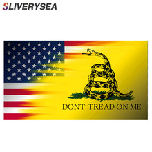 SLIVERYSEA 4.5*2.5inch Car Styling DONT TREAD ON ME DECAL US America USA STICKER Vinyl JDM Stickers and Decals