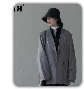 [EAM] 2019 Spring Plus Size Long Shirts Women Blouses Long-sleeve White Loose Tops Black White Cotton Shirt Big Size C006111 30