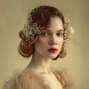 Image 5 - Royal Flower ślubne opaski na głowę tiary miękkie ślubne opaski wieczorowe nakrycia głowy ślubne akcesoria do włosów