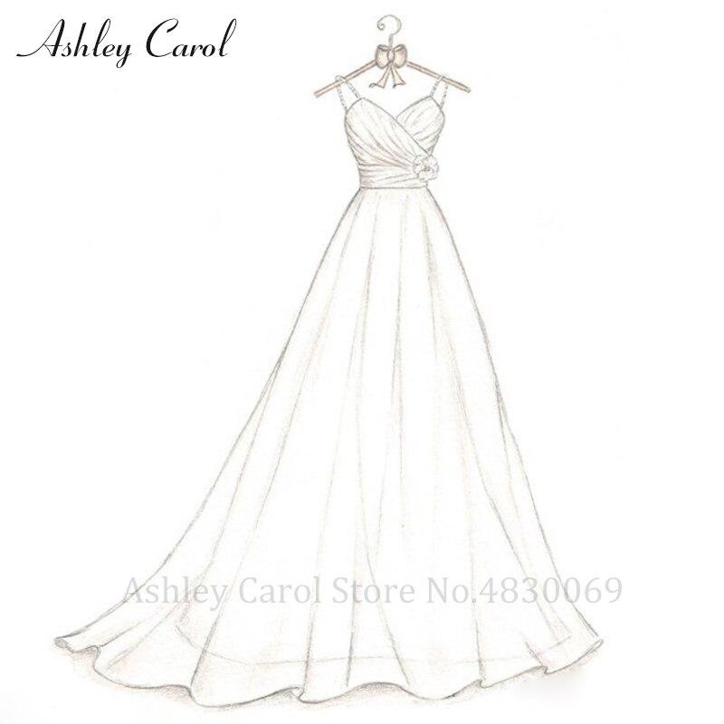 Ashley Carol Custom Wedding Dress 2019 Sexy Personalized Customized Handmade Any A-Line Wedding Gown Plus Size