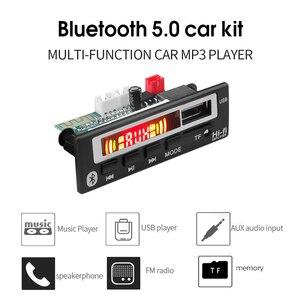 Image 2 - 5V 12V Mp3 décodeur Module de carte USB 3.5mm AUX Bluetooth FM Radio V5.0 récepteur sans fil 1 Din musique haut parleur voiture Kit