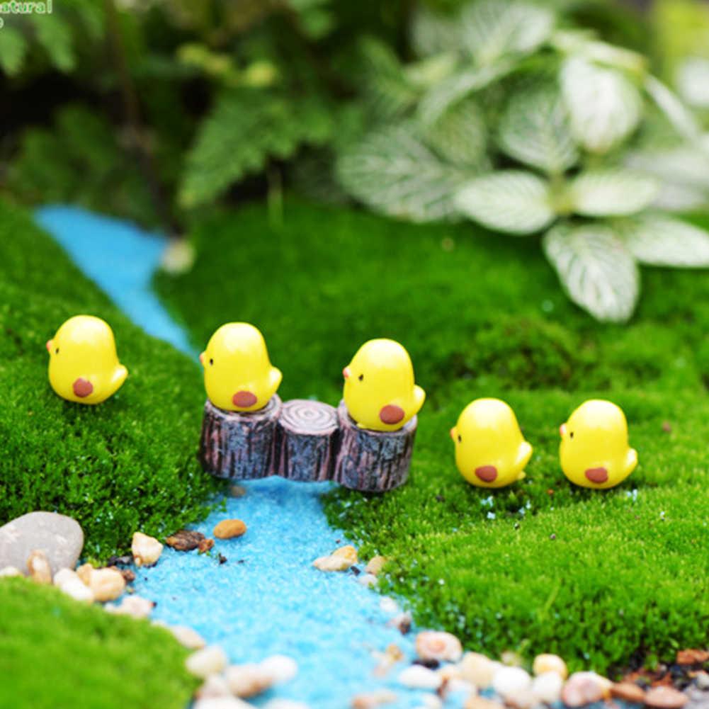 10Pcs อีสเตอร์ไก่เครื่องประดับเรซิ่น Fairy Miniature สวนฉากตกแต่งสวน