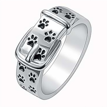 Silver Plated Dog Ring 1