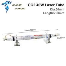 Серия K40: Co2 стеклянная лазерная трубка 40 Вт, длина 700 мм, Лазерная лампа для CO2 лазерной гравировальной машины