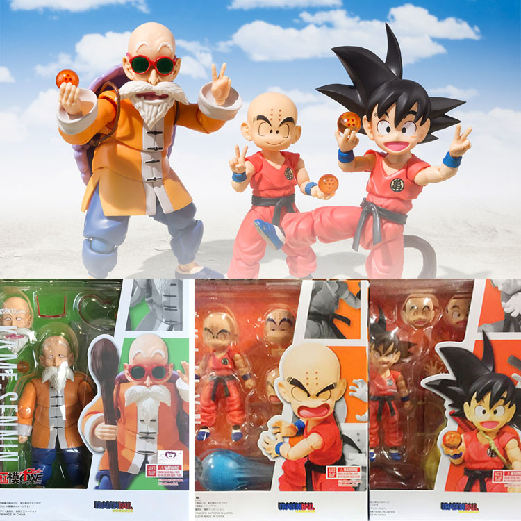 SHF Figuarts Model Master Roshi Kame Sennin Klilyn Son Gokou Chilhood Sence Anime Dragon Ball Souvenir Collectibles Movable Toys