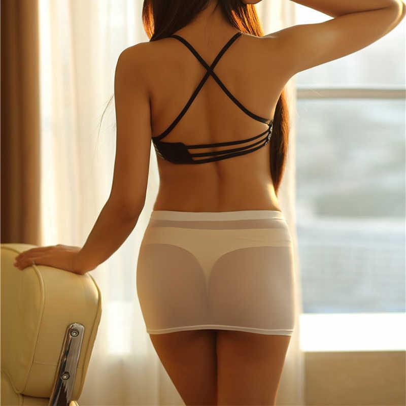 Transparent Sexy Micro Mini Röcke Damen Erotische Bodycon Öffnen Gabelung Shorts [Wollen drehen ihr mann auf? Lassen sie uns versuchen diese, mädchen!]