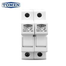 2P Parallel DC Fuse Holder 10*38mm High Voltage Solar PV 1000V TOMZN TOPV-30
