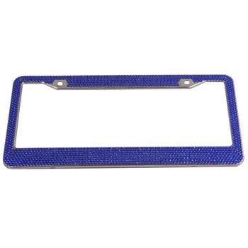 Strass moldura da placa de licença para o número do carro placa para eua titular placa de matrícula do carro capa traseira auto quadro de metal