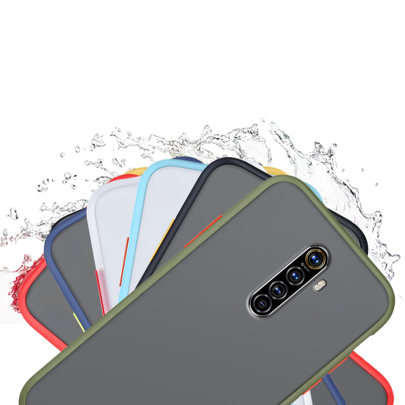 for <font><b>OPPO</b></font> Realme XT X2 Q Realme 5 <font><b>Pro</b></font> X C2 <font><b>F11</b></font> <font><b>Pro</b></font> Case Color Exchange Able Independent Button Silicone Matte Scrub PC Cover image