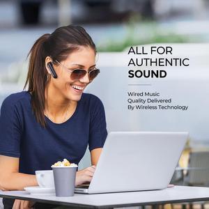 Image 2 - سماعات أذن لاسلكية Mpow EM17 سماعة أذن مزودة بتقنية البلوتوث مع خاصية إلغاء الضوضاء بميكروفون مزدوج مع تصميم تجاري