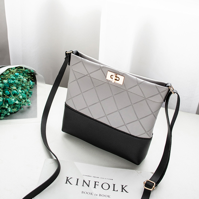 Image 2 - 2019 Diamond Lattice Plaid Bag Mini Hasp Handbag Cross body Bags 