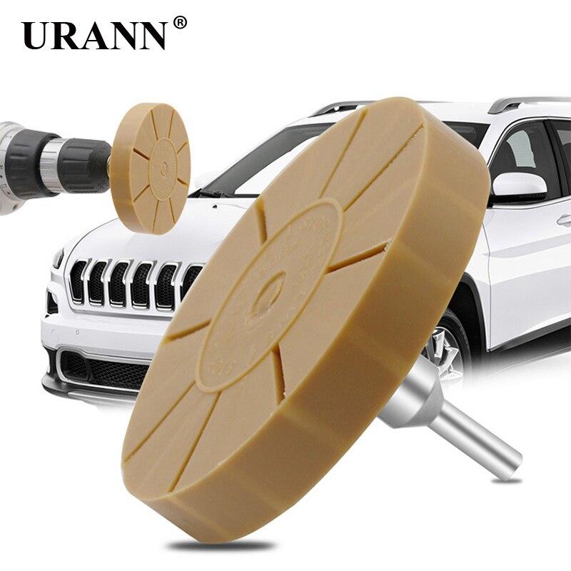 3.5 Inch Decal Eraser Wheel Pad Rubber Disk Pneumatic Car Sticker Auto Repair Paint Tool Pneumatic Degumming Disc Remover Tools