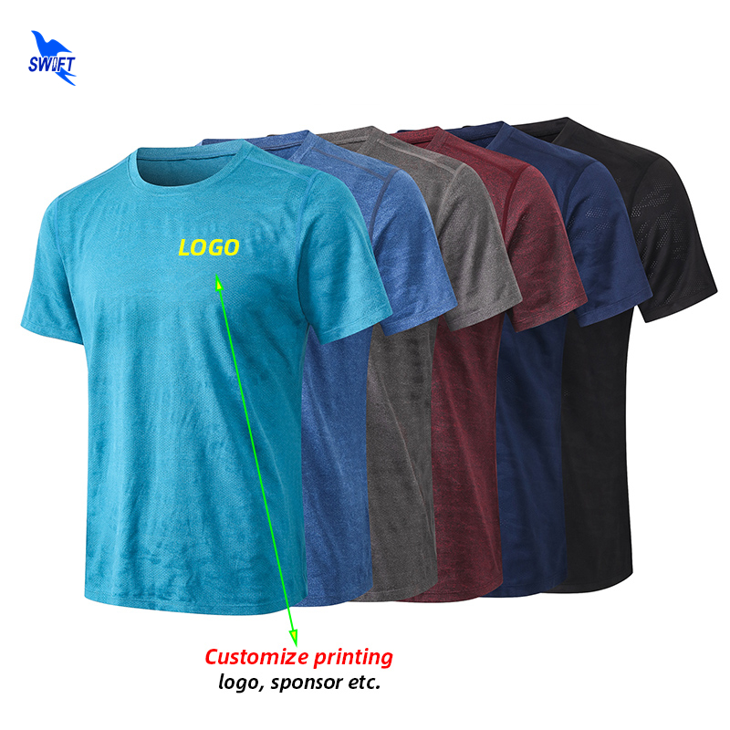 Customize LOGO Print Men Quick Dry Running T-Shirts Breathable Sport Shirts Fitness Gym Camouflage Top Tee Sportswear Rashguard