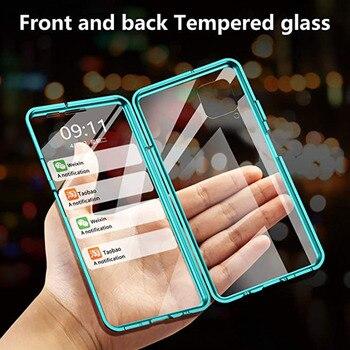 Magnetico Cassa Del Metallo Per Huawei Compagno di 40 20 P30 P40 P20 Lite Pro Y9S Cassa Del Telefono Per Honor X10 30 20 9X Pro 10 Lite 8X Della Copertura Della Cassa
