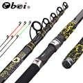 Obei sazan besleyici olta teleskopik iplik döküm 3 ipuçları seyahat Rod3.3 3.6m vara de pesca sokak 20- 160g kutup