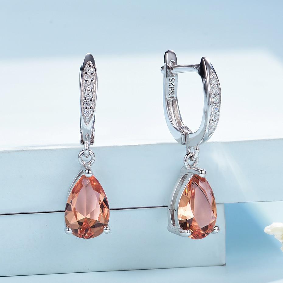 Kuololit Diaspore Gemstone Clip Earrings for Women Solid 925 Sterling Silver Created Color Change Earrings Wedding Fine Jewelry