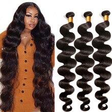 Extensão de cabelos brasileiros 30 polegadas, pacotes de extensões de cabelos humanos 40 polegadas não-remy