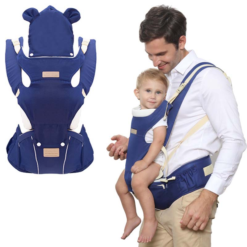 Ergonomic Baby Carrier 0-36 Months Breathable Front Facing Carry Ergonomic Kangaroo Backpack Hipsit Baby Sling With Waist Stool