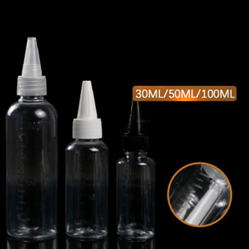 1 Pcs 30ml/50ml/100ml With Scaled Tip Bottle Quality PET Transparent Empty Reagent Bottle Cosmetic Refillable Bottle New Arrival