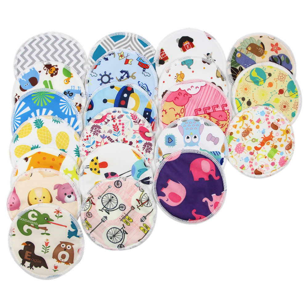 Reusable Breast Pads Nursing Pads Soft Absorbent Baby Breastfeeding Waterproof Breast Pad Bamboo Fabric Bra Dropshipping