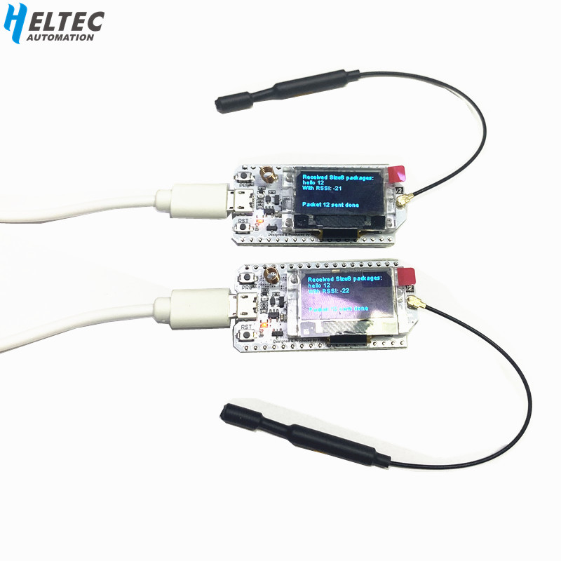 2PCS IOT 868MHz-915MHz SX1276 ESP32 LoRa 0.96 Inch Blue OLED Display Bluetooth WIFI Lora Kit 32 V2 Development Board For Arduino
