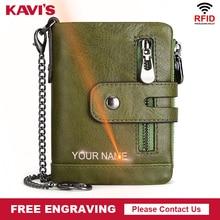 Kavis 送料彫刻本物の牛革財布メンズコイン財布男性 cuzdan ブリーフケースポートフォリオマン portomonee スモールミニ walet ポケット