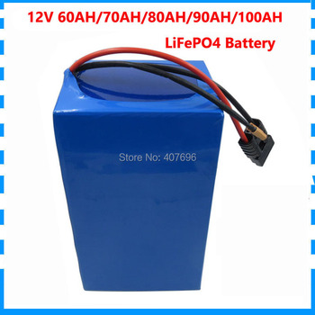 High capacity 500W 12V 100AH 90AH 80AH LiFePO4 battery pack for energy storage 14.6V 4S 70AH 60AH 32700 Cell 14.6V 5A Charger image