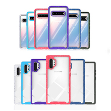 Hard Clear PC Back Matte TPU Bumper Frame Case For Samsung Galaxy Note 10 Pro 9 8 S9 S8 S10 Plus Hybrid 3 in 1 Rough Cases toiko chiron clear case for samsung galaxy note 10 shockproof protection bumper shell note 10 plus pro hybrid pc tpu back covers