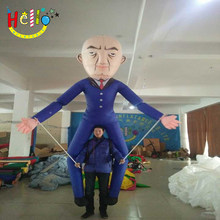 3.5 m high customized long legs inflatable leader old man puppet costume(China)
