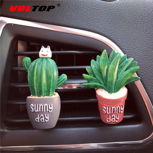 Image 3 - Succulents Cactus Car Dashboard Decoration Air Outlet Perfume Clip Ornaments Car Accessories Interior Hanging Pendant