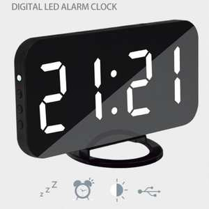 Dreamburgh Alarm-Clock Desk Snooze-Display Time Night-Table Digital LED for iPhone Androd