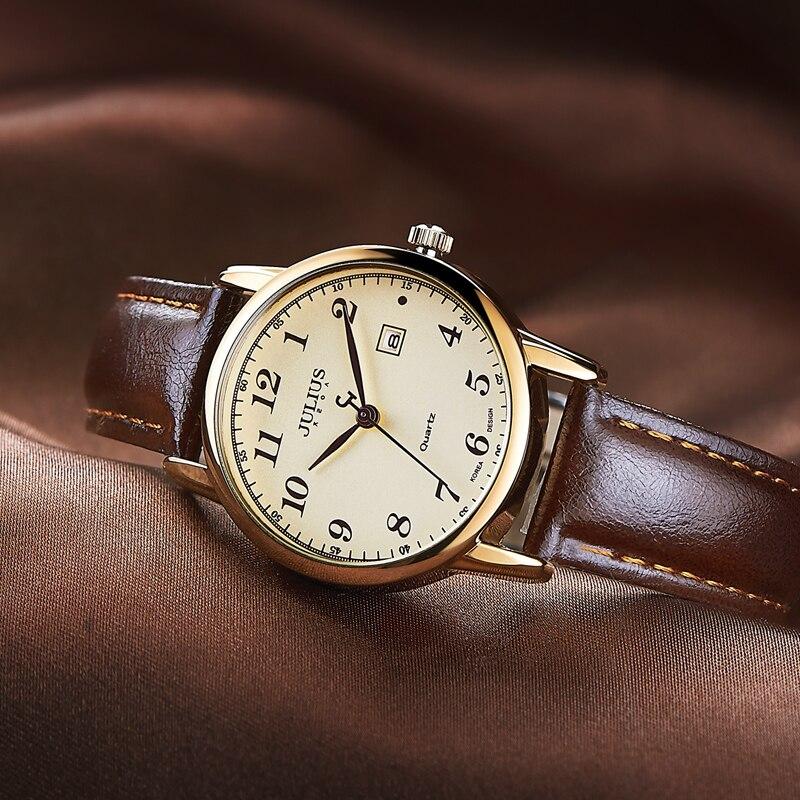 Top Luxury Women's Watch Japan Quartz Hours Date Fine Fashion Woman Clock Real Leather Strap Girl's Retro Birthday Gift Female