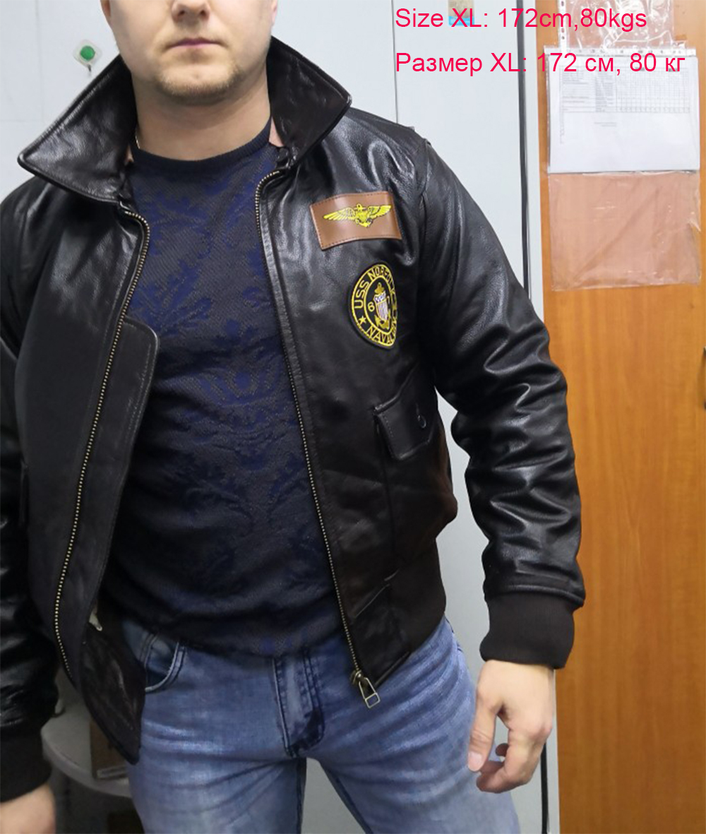 H835966bd7b7344ce9972cd057ec106f12 Vintage Distressed Men Leather Jacket Quilted Fur Collar 100% Calfskin Flight Jacket Men's Leather Jacket Man Winter Coat M253