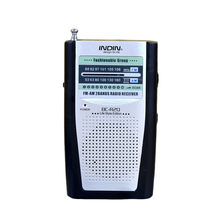 Mini Portable AM / FM Receiver Pocket Antenna Radio Built in Speaker Built In Speaker With LED Light Assisted #(China)