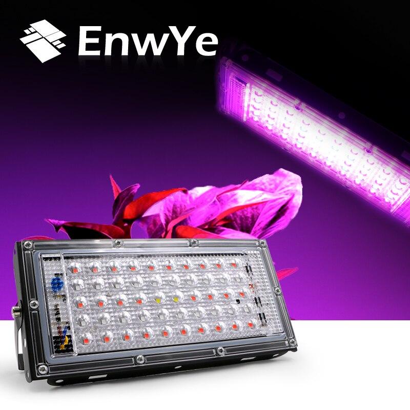 EnwYe 50W LED plant growth lamp AC 220V plant floodlight greenhouse plant hydroponic plant spotlight