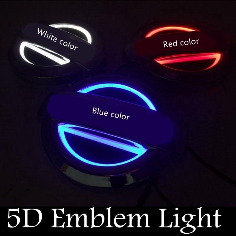 1pcs 12V 5D Car LED Badge Emblem Light Rear Lights For Nissan X-Trail Geniss Livina Cedric Tiida Plug&Play Blue Red White